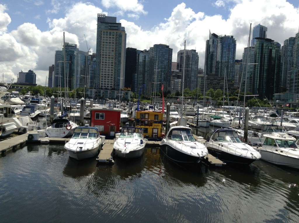 A view of the Vancouver Marina where Sara David Joy is a psychologist.